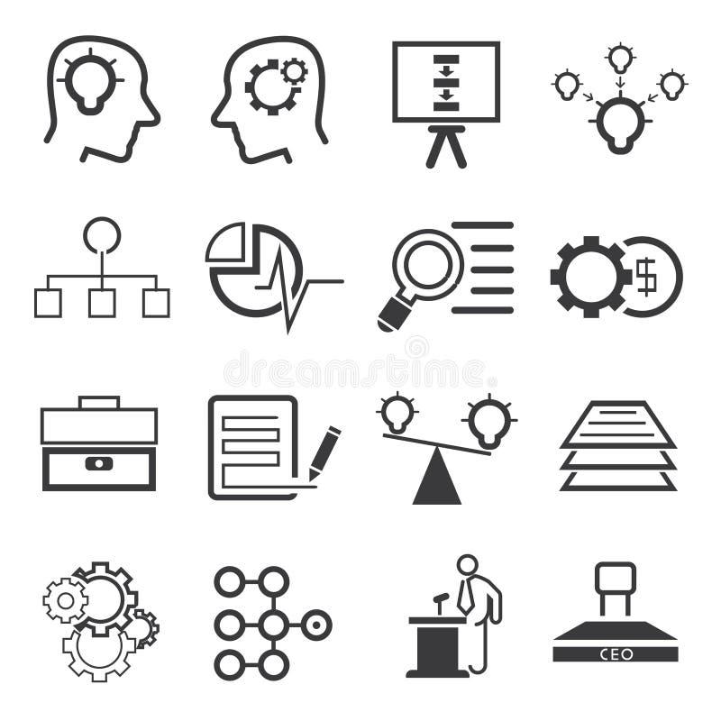 Bedrijfseconomiepictogrammen vector illustratie