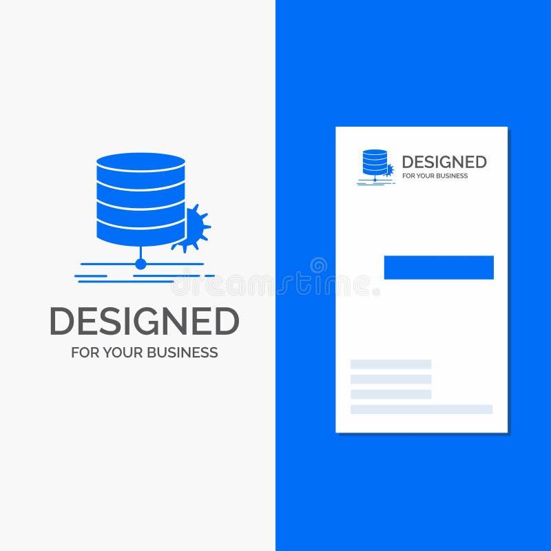 Bedrijfsembleem voor Algoritme, grafiek, gegevens, diagram, stroom Verticaal Blauw Bedrijfs/Visitekaartjemalplaatje vector illustratie