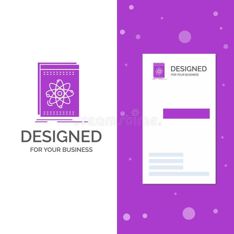 Bedrijfsembleem voor Api, toepassing, ontwikkelaar, platform, wetenschap Verticaal Purper Bedrijfs/Visitekaartjemalplaatje creati stock illustratie