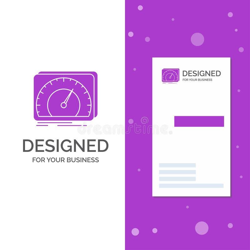 Bedrijfsembleem voor dashboard, apparaat, snelheid, test, Internet Verticaal Purper Bedrijfs/Visitekaartjemalplaatje Creatieve ac stock illustratie
