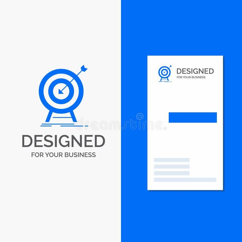 Bedrijfsembleem voor doel, klap, markt, succes, doel Verticaal Blauw Bedrijfs/Visitekaartjemalplaatje vector illustratie