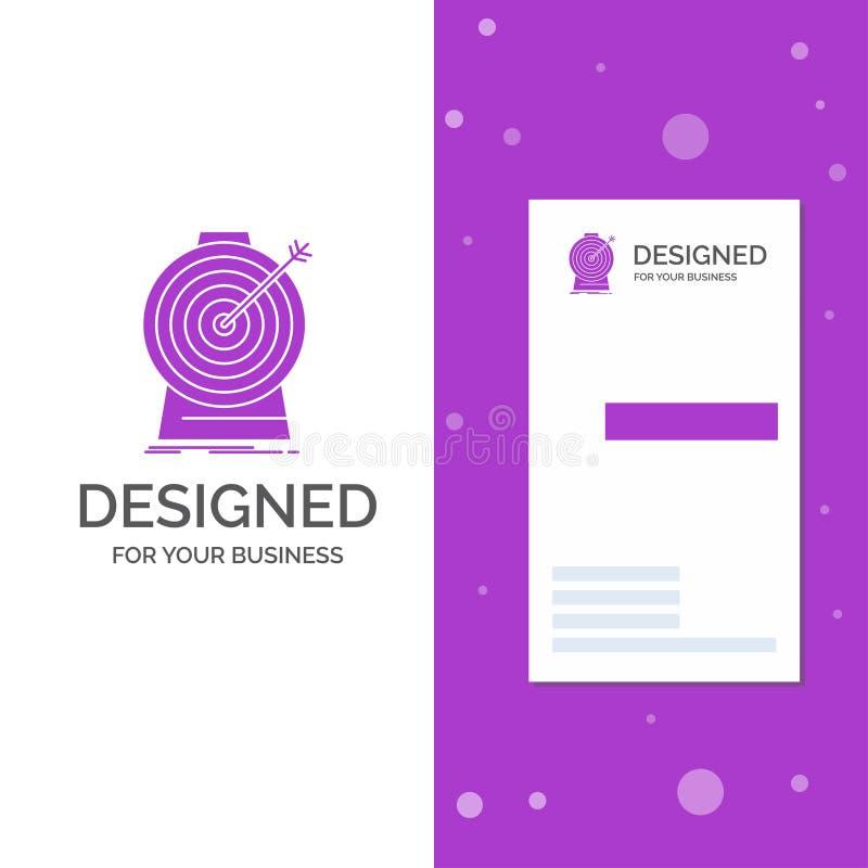 Bedrijfsembleem voor Doel, nadruk, doel, doel, het richten Verticaal Purper Bedrijfs/Visitekaartjemalplaatje Creatieve achtergron royalty-vrije illustratie