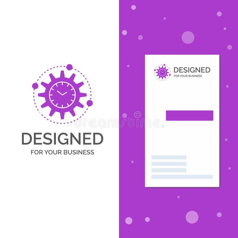Bedrijfsembleem voor Efficiency, beheer, verwerking, productiviteit, project Verticaal Purper Bedrijfs/Visitekaartjemalplaatje vector illustratie