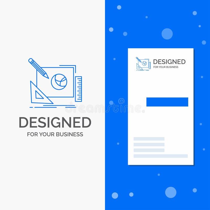 Bedrijfsembleem voor embleem, creatief ontwerp, idee, ontwerpproces Verticaal Blauw Bedrijfs/Visitekaartjemalplaatje vector illustratie