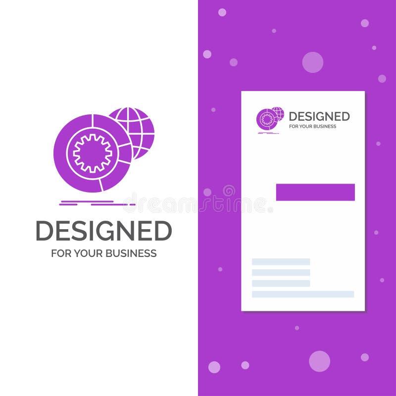 Bedrijfsembleem voor gegevens, grote gegevens, analyse, bol, de diensten Verticaal Purper Bedrijfs/Visitekaartjemalplaatje creati vector illustratie