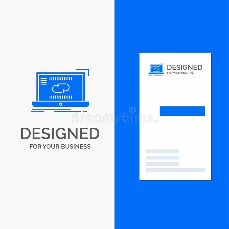 Bedrijfsembleem voor Mededeling, verbinding, verbinding, synchronisatie, synchronisatie Verticaal Blauw Bedrijfs/Visitekaartjemal royalty-vrije illustratie