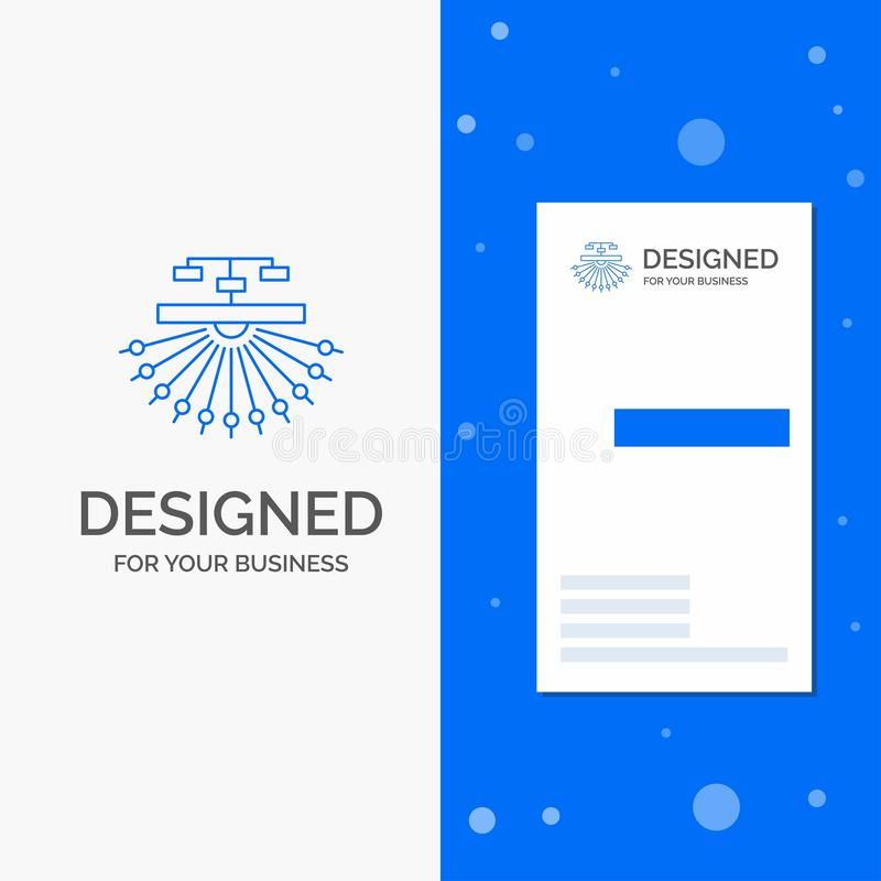 Bedrijfsembleem voor optimalisering, plaats, plaats, structuur, Web Verticaal Blauw Bedrijfs/Visitekaartjemalplaatje vector illustratie