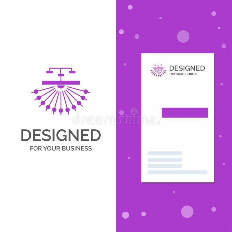 Bedrijfsembleem voor optimalisering, plaats, plaats, structuur, Web Verticaal Purper Bedrijfs/Visitekaartjemalplaatje Creatieve a vector illustratie