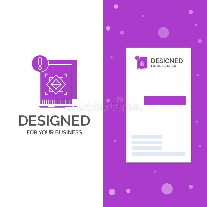 Bedrijfsembleem voor structuur, norm, infrastructuur, informatie, alarm Verticaal Purper Bedrijfs/Visitekaartjemalplaatje stock illustratie