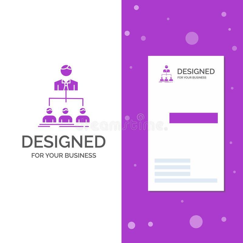 Bedrijfsembleem voor team, groepswerk, organisatie, groep, bedrijf Verticaal Purper Bedrijfs/Visitekaartjemalplaatje creatief royalty-vrije illustratie
