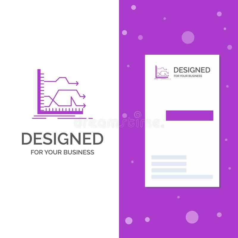 Bedrijfsembleem voor voorwaartse Pijlen, grafiek, markt, voorspelling Verticaal Purper Bedrijfs/Visitekaartjemalplaatje creatief vector illustratie