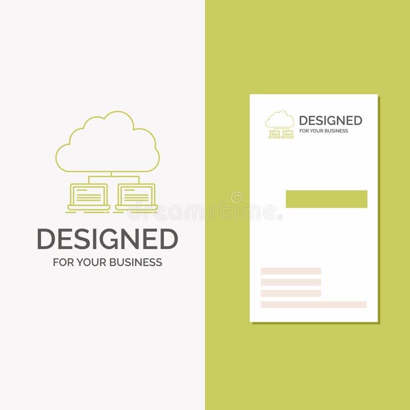 Bedrijfsembleem voor wolk, netwerk, server, Internet, gegevens r Creatieve achtergrond stock illustratie