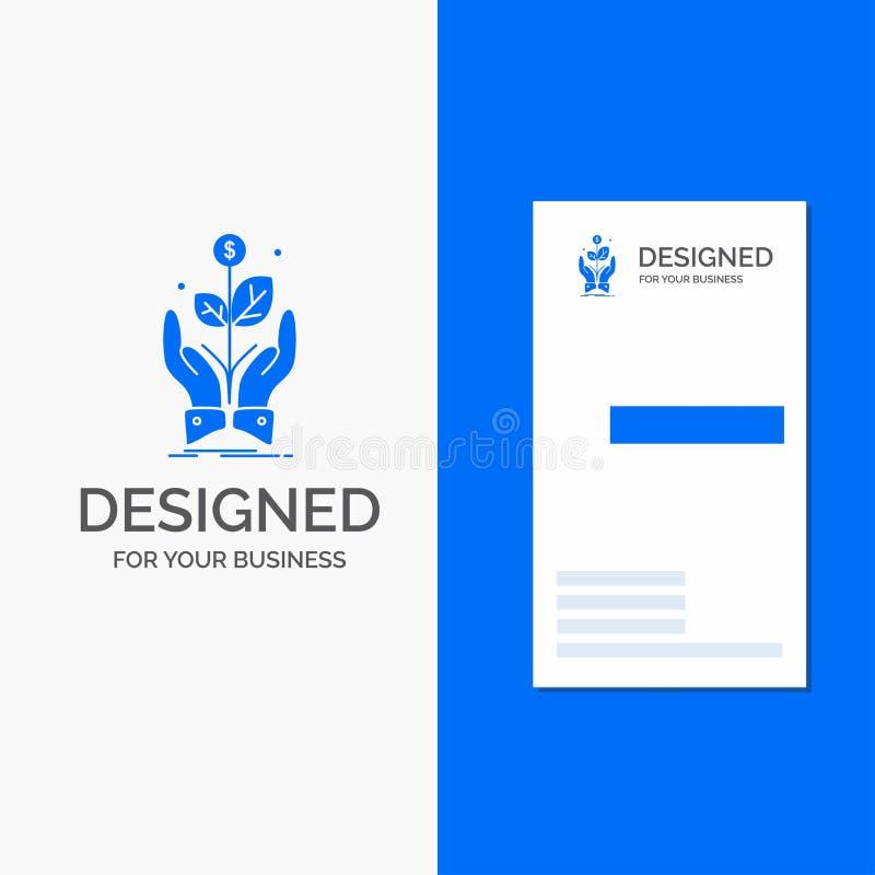 Bedrijfsembleem voor zaken, bedrijf, de groei, installatie, stijging Verticaal Blauw Bedrijfs/Visitekaartjemalplaatje vector illustratie