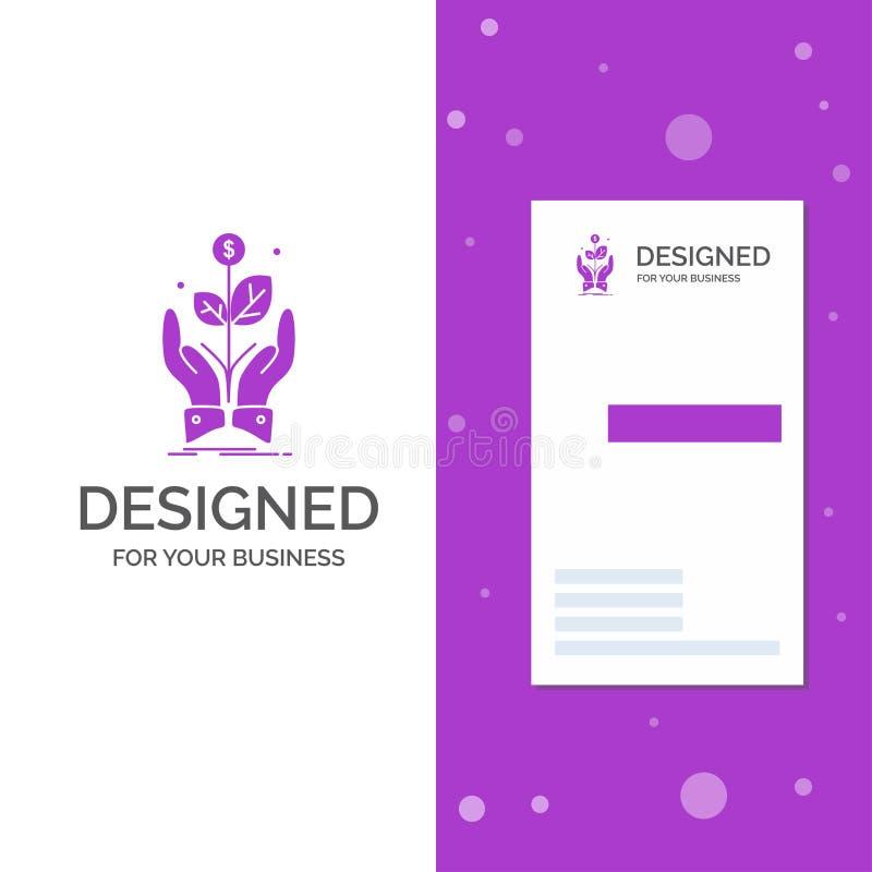 Bedrijfsembleem voor zaken, bedrijf, de groei, installatie, stijging Verticaal Purper Bedrijfs/Visitekaartjemalplaatje Creatieve  vector illustratie