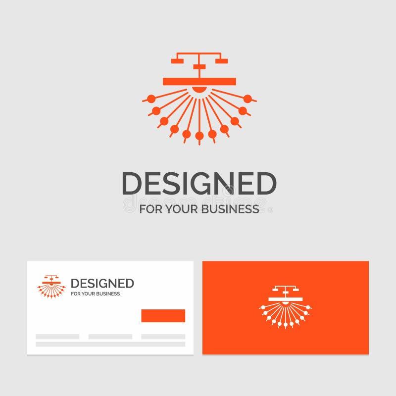 Bedrijfsembleemmalplaatje voor optimalisering, plaats, plaats, structuur, Web Oranje Visitekaartjes met het malplaatje van het Me vector illustratie