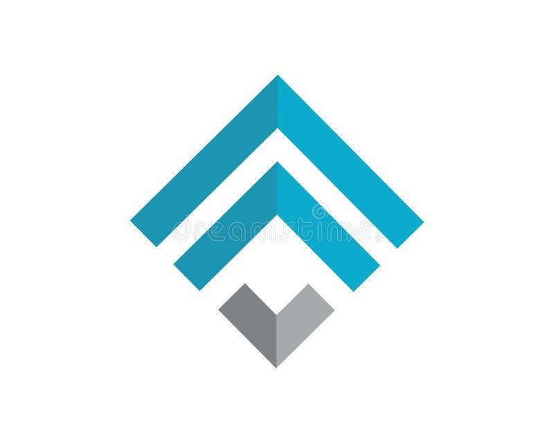 Bedrijfsfinanciën professioneel embleem vector illustratie