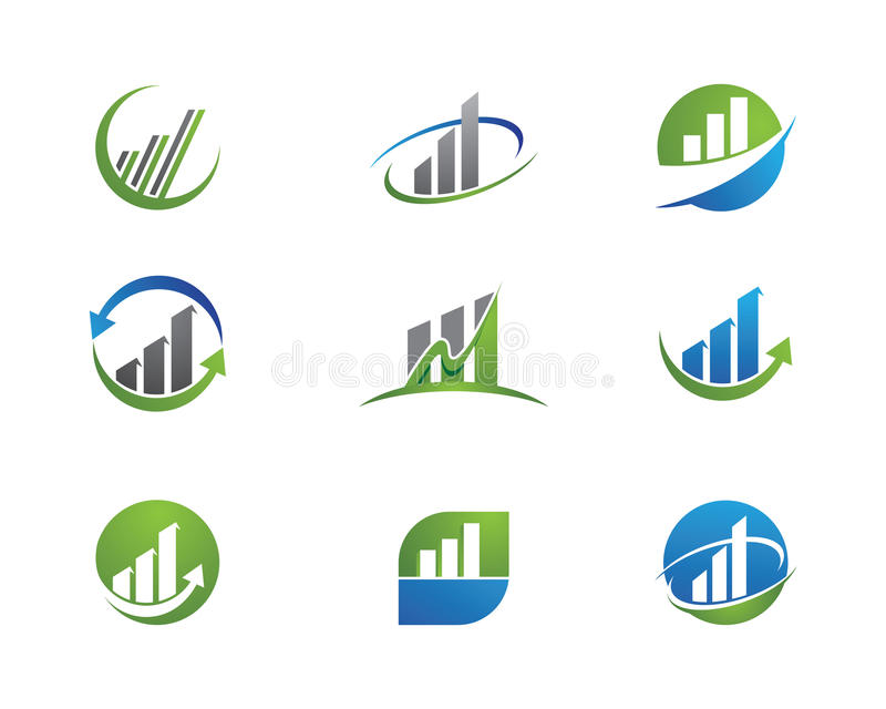 Bedrijfsfinanciënembleem stock illustratie