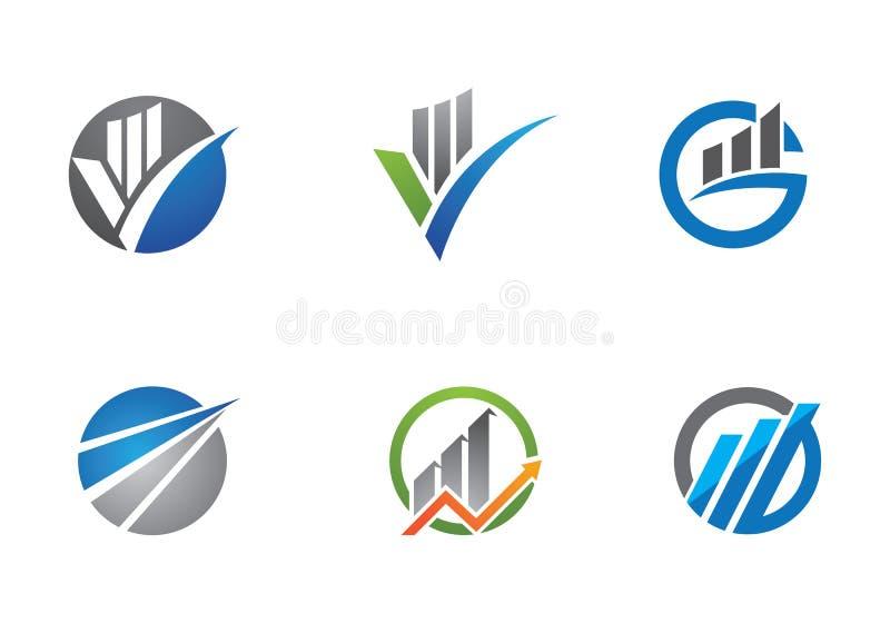 Bedrijfsfinanciënembleem vector illustratie