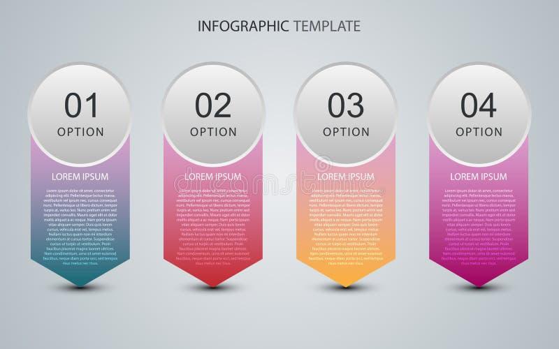 Bedrijfsgegevens met abstracte elementen van grafiek Vectormalplaatje voor presentatie Creatief concept voor infographics royalty-vrije illustratie