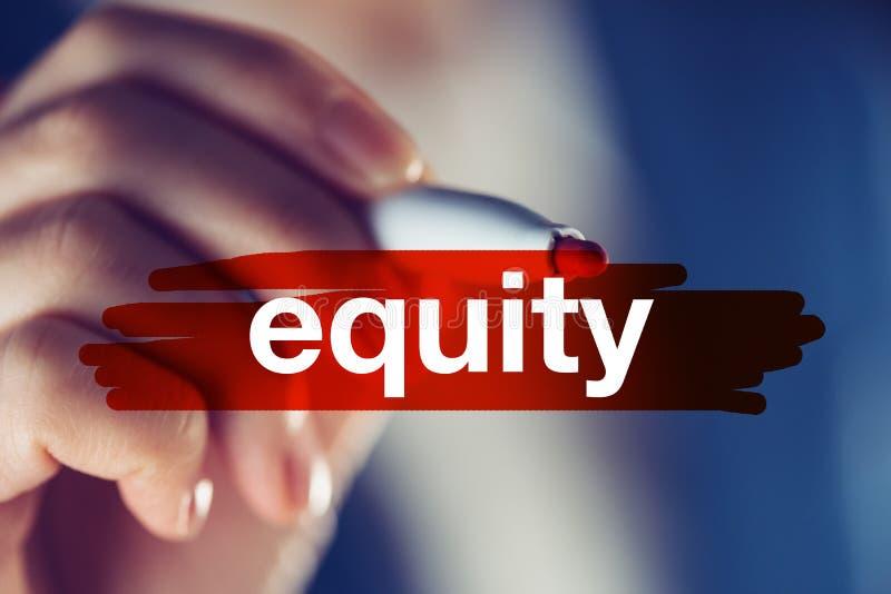 Bedrijfsgelijkheidsconcept royalty-vrije stock afbeeldingen