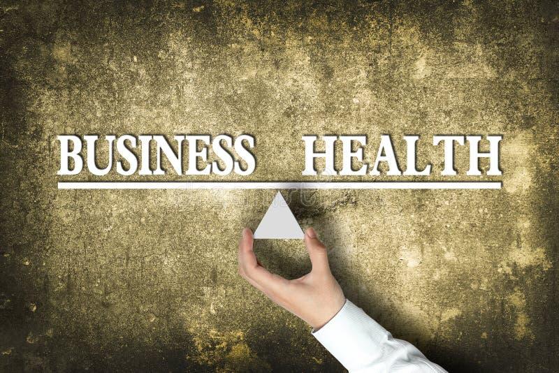 Bedrijfsgezondheidssaldo stock foto's