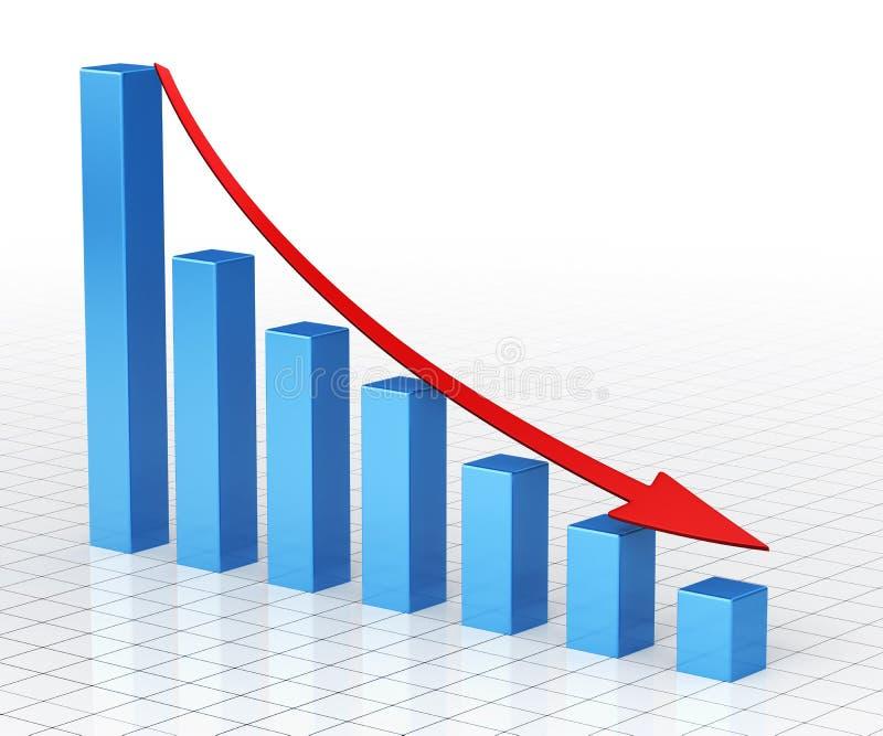 Bedrijfsgrafiekbar vector illustratie