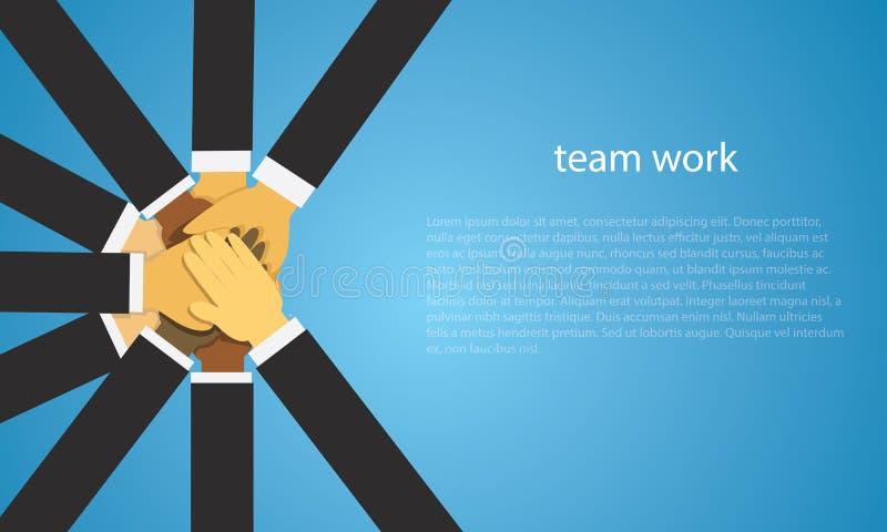 Bedrijfsgroepswerk Team Hard Work Concept Vector illustratie stock illustratie
