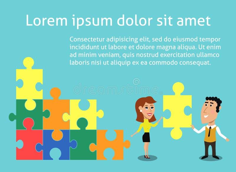 Bedrijfsgroepswerkconcept vector illustratie