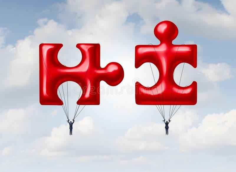 Bedrijfsgroepswerkraadsel vector illustratie