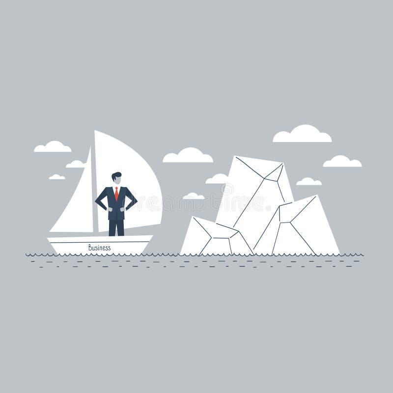 Bedrijfshindernis op de manier stock illustratie