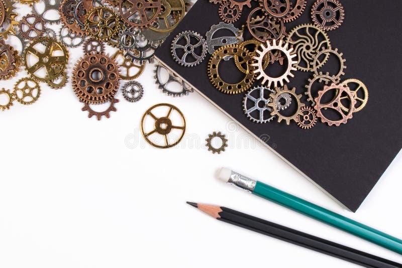 Bedrijfshulpmiddelen en bedrijfssuccesconcept stock afbeelding