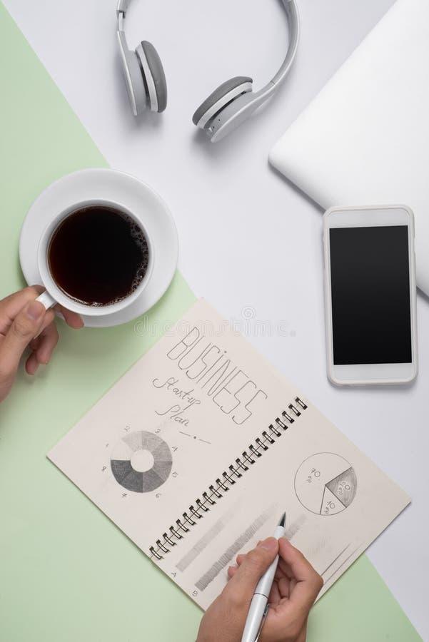 Bedrijfsideeën, creativiteit, inspiratie en startconcepten stock foto