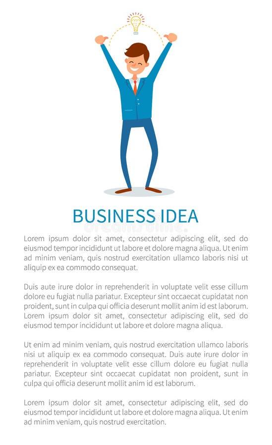 Bedrijfsidee en Antwoorden, Mensen Innovatieve Oplossing royalty-vrije illustratie