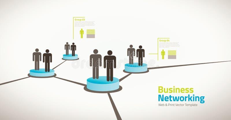 Bedrijfsillustratie van voorzien van een netwerkmensen vector illustratie