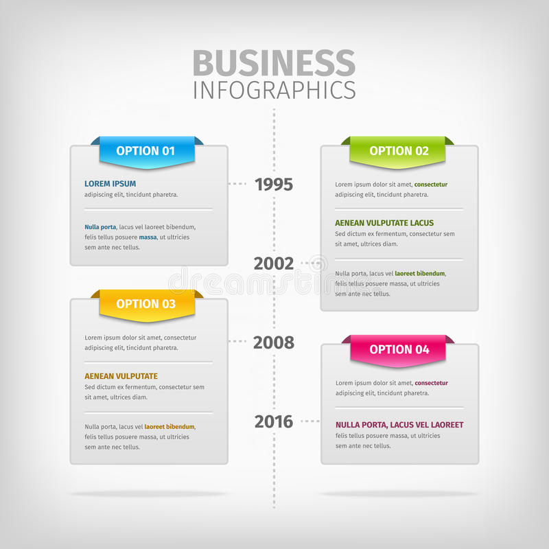 Bedrijfsinfographics met zachte grijze dozen en vector illustratie