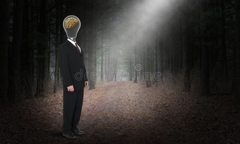 Bedrijfsintelligentie, Intelligente Hersenen, Ideeën stock foto