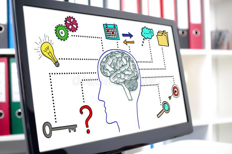 Bedrijfsintelligentieconcept op het computerscherm royalty-vrije stock afbeelding
