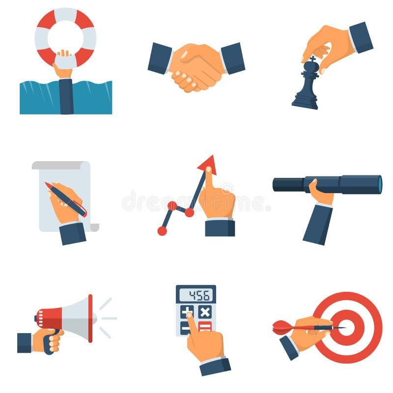Bedrijfsinzamelings vlak pictogram vector illustratie
