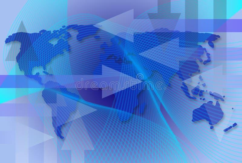BedrijfsKaart wereldwijd stock illustratie