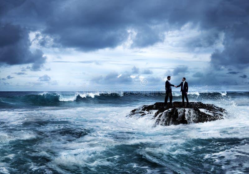 Bedrijfskans in crisisconcept royalty-vrije stock foto's