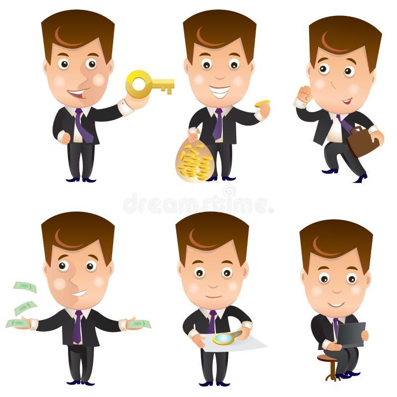 Bedrijfskarakter - reeks vector illustratie