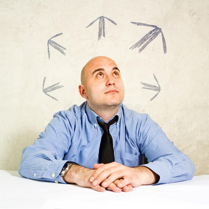 Bedrijfskeus of het nemen van besluiten stock afbeeldingen