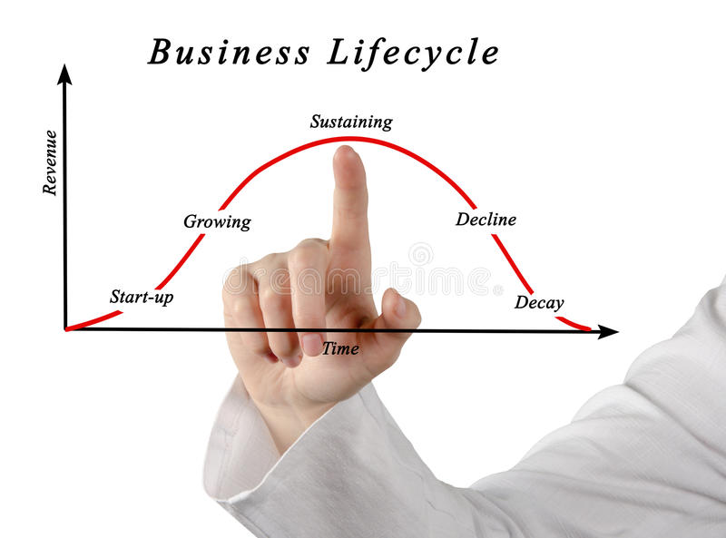 Bedrijfslevenscyclus royalty-vrije stock afbeeldingen