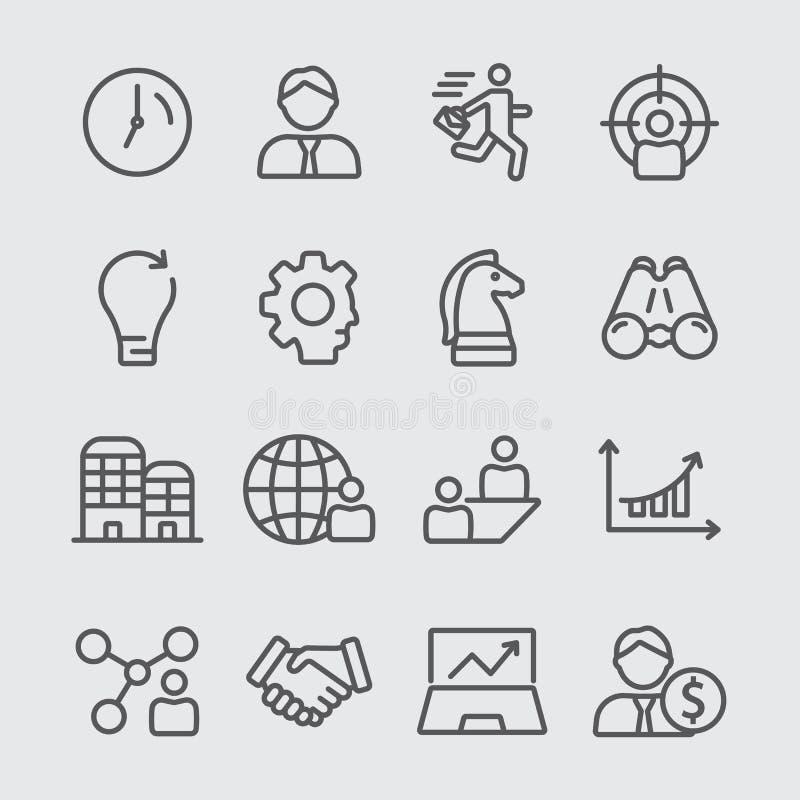 Bedrijfslijnpictogram stock afbeeldingen