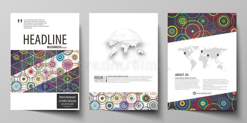 Bedrijfsmalplaatjes voor brochure, tijdschrift, vlieger, boekje, rapport Het malplaatje van het dekkingsontwerp, abstracte vector royalty-vrije illustratie