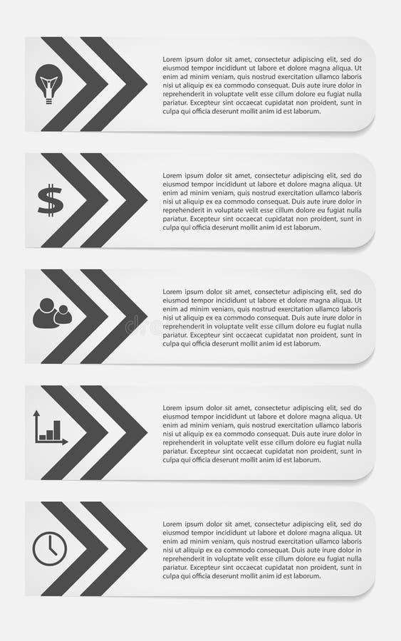 Bedrijfsmalplaatjes voor witte tekst, stock illustratie