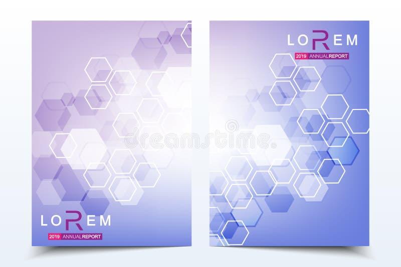 Bedrijfsmalplaatjesbrochure, tijdschrift, pamflet, vlieger, dekking, boekje, jaarverslag Wetenschappelijk concept voor medisch royalty-vrije illustratie