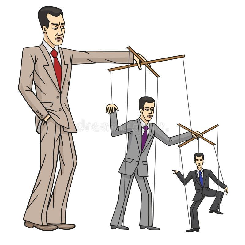 Bedrijfsmarionetten stock illustratie