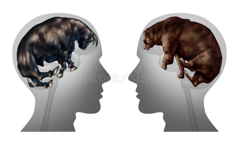 Bedrijfsmarkt die het Denken investeren stock illustratie