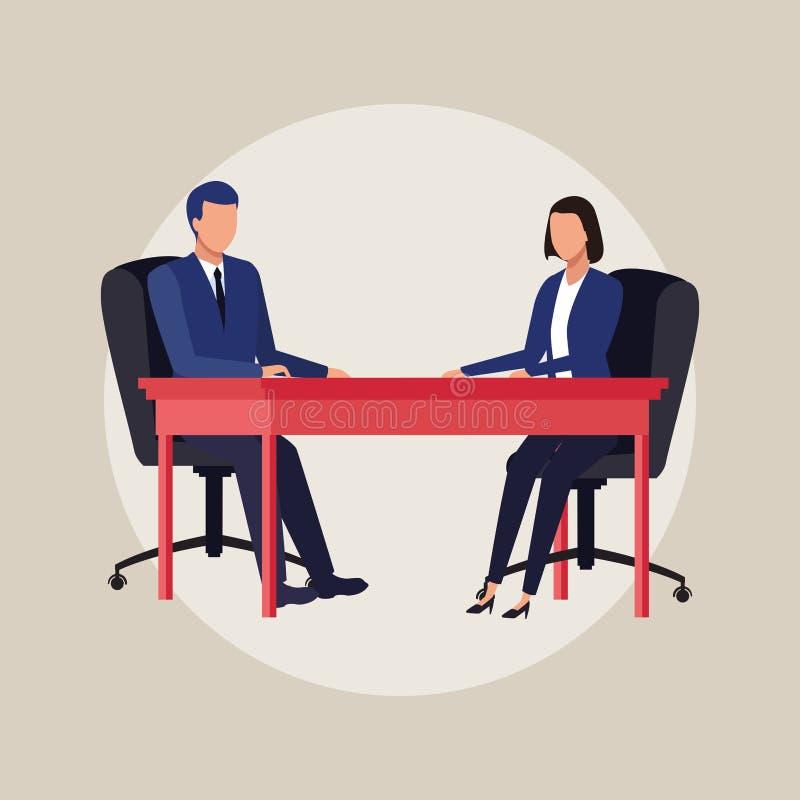 Bedrijfsmedewerkersbeeldverhalen vector illustratie